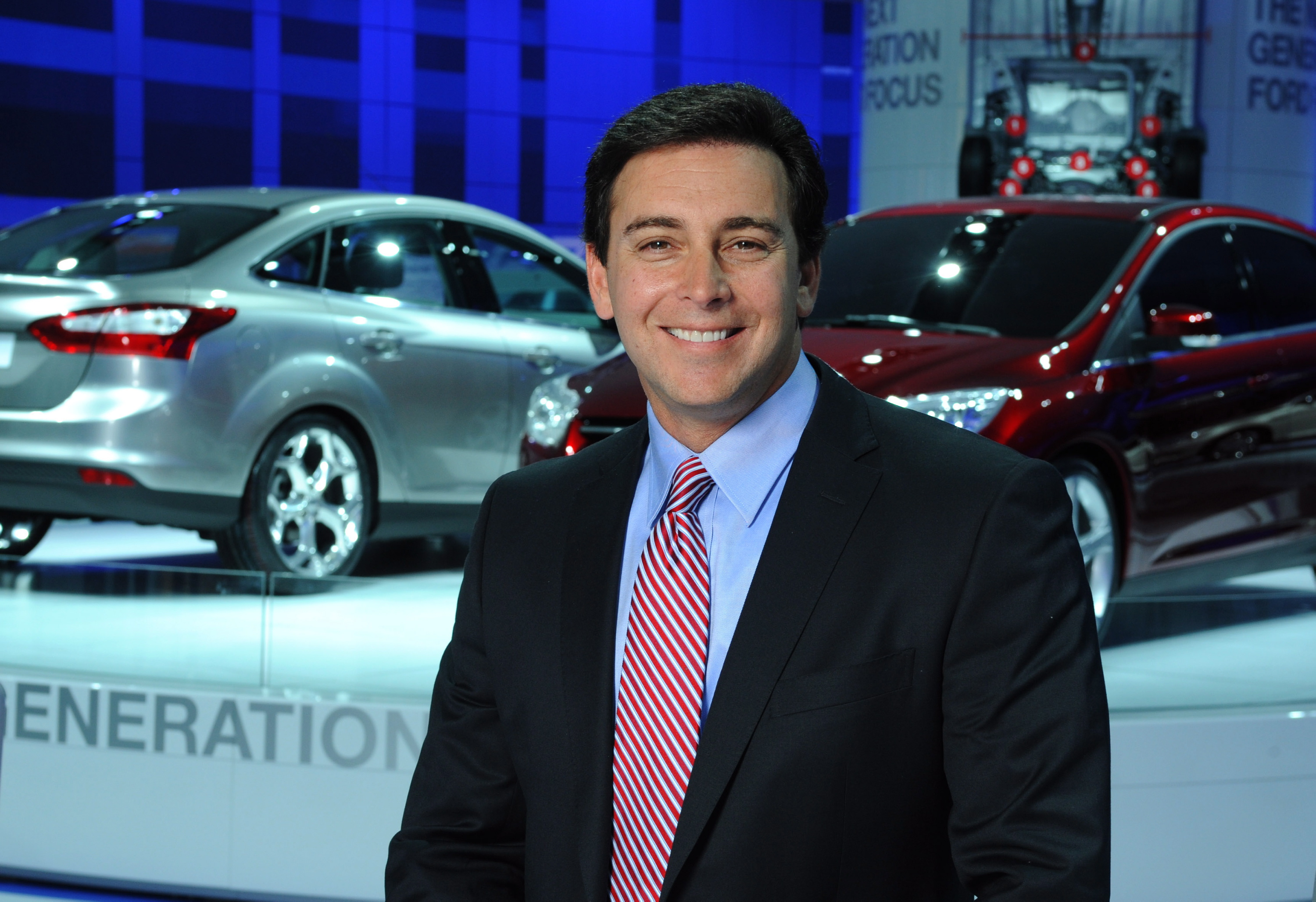 Mark Fields with the Next-Generation Ford Focus at NAIAS